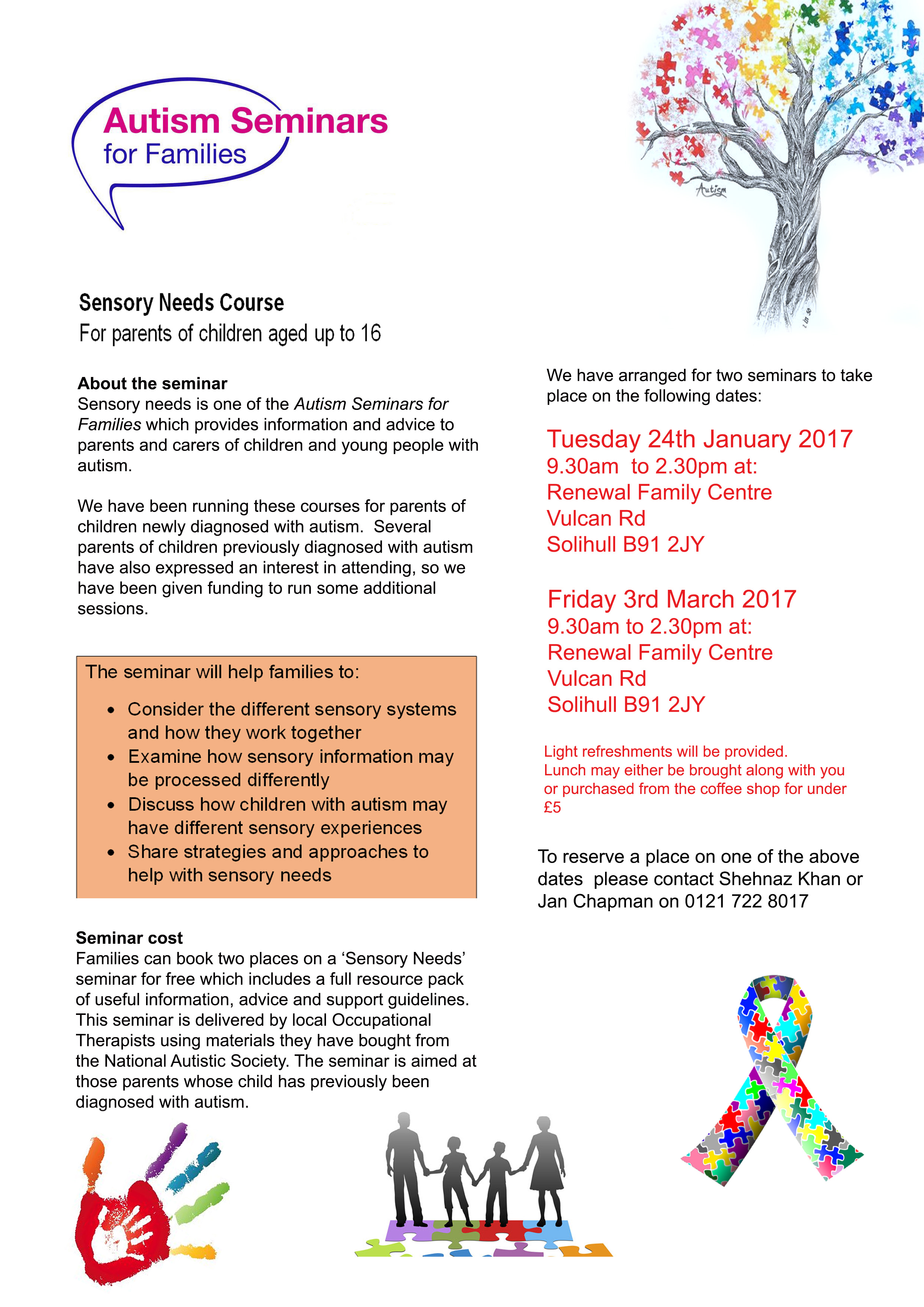 Sensory Needs Courses for parents carers of Children with Autism