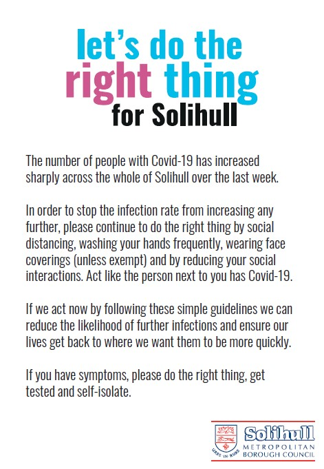 Do the right thing for Solihull